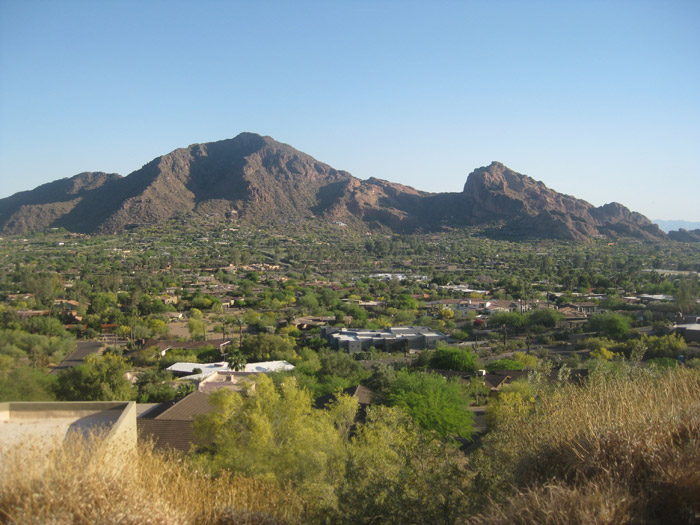 View of the Camelback Mountain