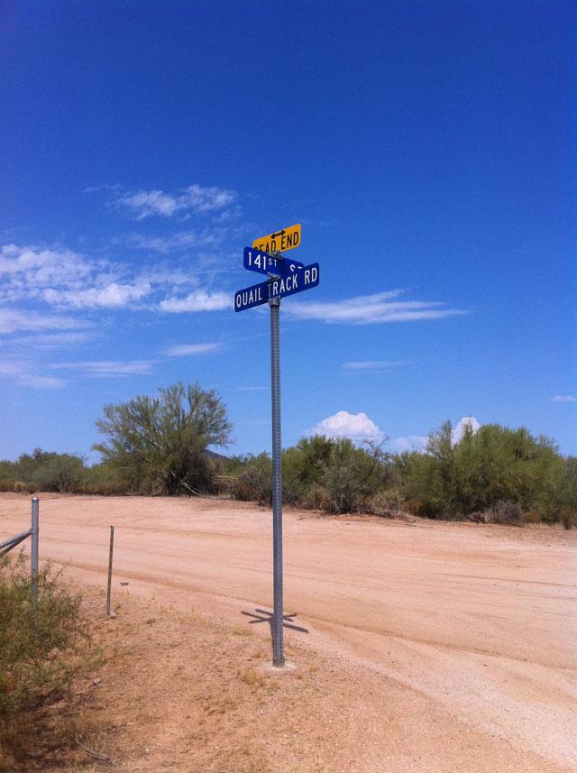 Scottsdale desert roads