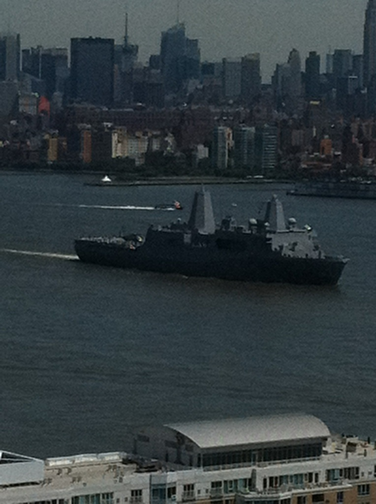 USS New York entering the Hudson