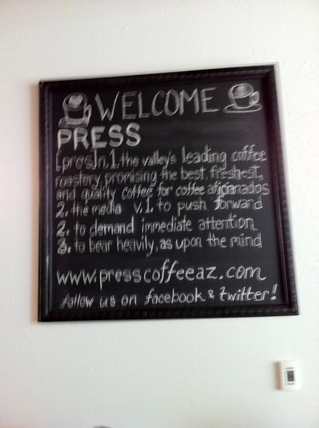 Press Coffee Roasters | Scottsdale Quarter