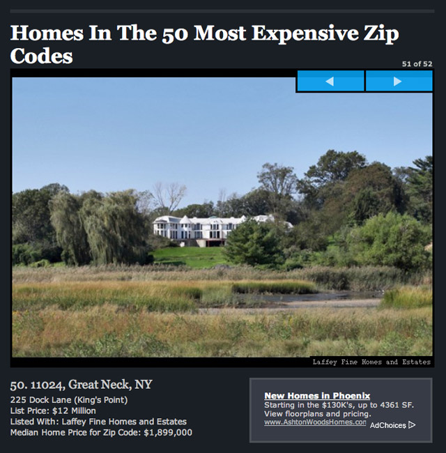 50 Most Expensive Zip Codes
