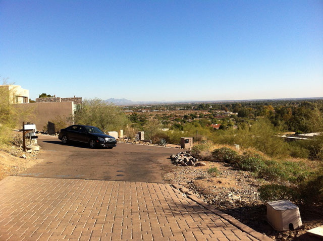Marta Walsh's Car Hanging Out in Paradise Valley