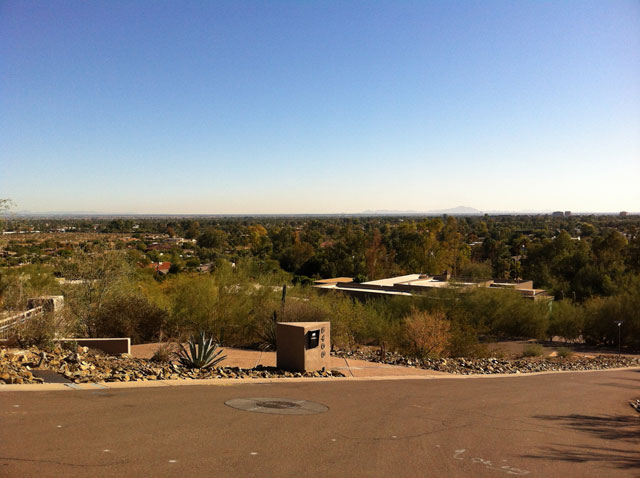 Views From Paradise Valley To the Distant North Scottsdale Mountains