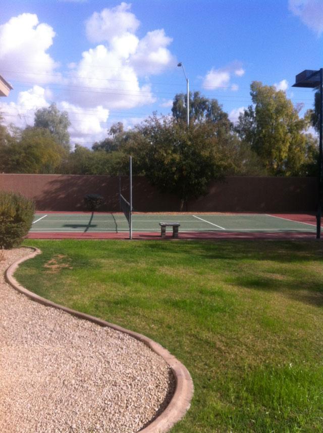 Garden with Sports Court