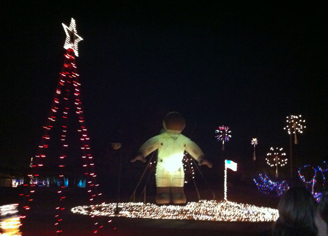 Inflatables And Lights At The Railroad Park