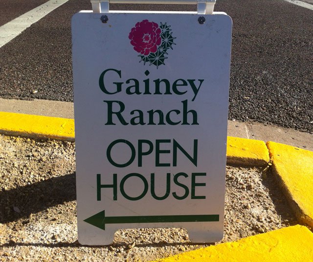 Gainey Ranch Open Houses