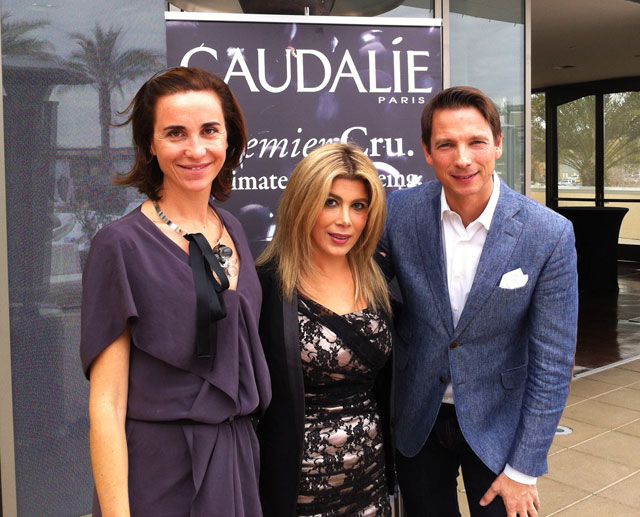 Marta Walsh and Caudalie Founders Mathilde and Bertrand