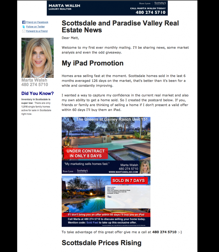 Scottsdale & Paradise Valley Real Estate Newsletter