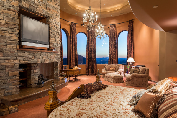 Luxurious Master Bedroom with grand lounge area | 11225 N Crestview DR Fountain Hills Arizona 85268 | via: The Marta Walsh Group