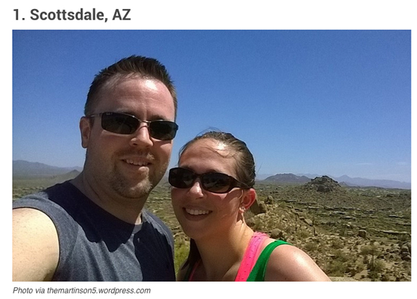Scottsdale Number One Place For Selfie | via The Marta Walsh Goup