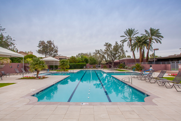 7710 E Gainey Ranch RD Unit 208, Scottsdale Arizona | The Estate Club Pool | Photo Credit: The Marta Walsh Grou