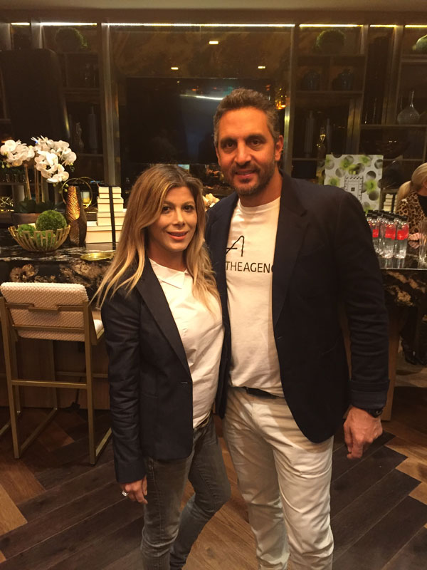 Marta Walsh with Mauricio Umansky CEO & Co-Founder of The Agency